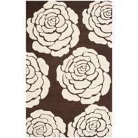 Safavieh Cambridge 4-Foot x 6-Foot Molly Wool Rug in Brown/Ivory