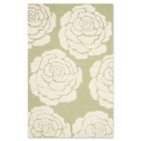 Safavieh Cambridge 4-Foot x 6-Foot Molly Wool Rug in Lime/Ivory