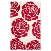 Safavieh Cambridge 5-Foot x 8-Foot Molly Wool Rug in Ivory/Red