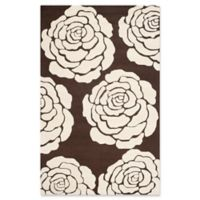 Safavieh Cambridge 5-Foot x 8-Foot Molly Wool Rug in Brown/Ivory