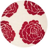 Safavieh Cambridge 6-Foot x 6-Foot Molly Wool Rug in Ivory/Red