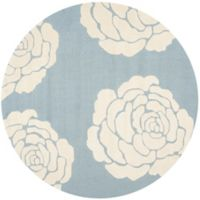 Safavieh Cambridge 6-Foot x 6-Foot Molly Wool Rug in Blue/Ivory