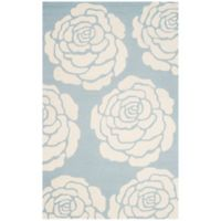 Safavieh Cambridge 8-Foot x 10-Foot Molly Wool Rug in Blue/Ivory