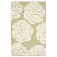 Safavieh Cambridge 8-Foot x 10-Foot Molly Wool Rug in Lime/Ivory