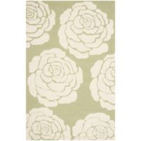 Safavieh Cambridge 3-Foot x 5-Foot Molly Wool Rug in Lime/Ivory
