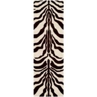 Safavieh Cambridge 2-Foot 6-Inch x 8-Foot Dina Wool Rug in Ivory/Brown