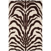 Safavieh Cambridge 4-Foot x 6-Foot Dina Wool Rug in Ivory/Brown