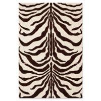 Safavieh Cambridge 5-Foot x 8-Foot Dina Wool Rug in Ivory/Brown