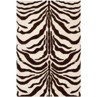 Safavieh Cambridge 6-Foot x 9-Foot Dina Wool Rug in Ivory/Brown