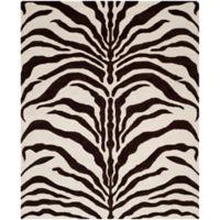 Safavieh Cambridge 8-Foot x 10-Foot Dina Wool Rug in Ivory/Brown