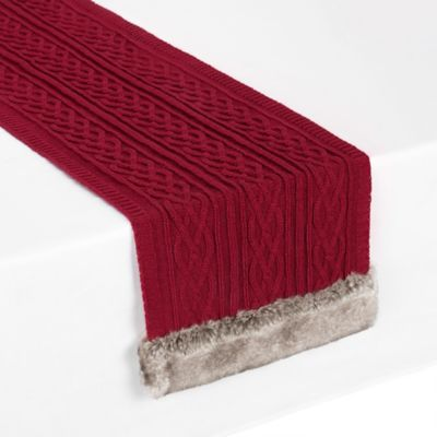 UGG® Cable Knit 90 Inch Table Runner