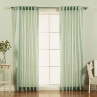 Decorinnovation Faux Silk Candy Stripe 84-Inch Rod Pocket Window Curtain Panel Pair in Sage