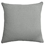 Amity Home Knitted Cotton Square Throw Pillow in Sea Glass
