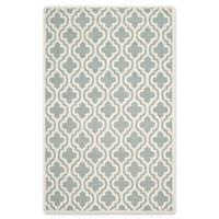 Safavieh Cambridge 5-Foot x 8-Foot Cory Wool Rug in Spa/Ivory