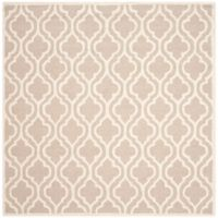 Safavieh Cambridge 6-Foot x 6-Foot Cory Wool Rug in Mocha/Ivory