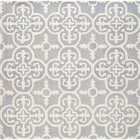 Safavieh Cambridge 4-Foot x 4-Foot Ava Wool Rug in Silver/Ivory