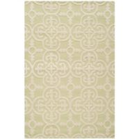 Safavieh Cambridge 4-Foot x 6-Foot Ava Wool Rug in Light Green/Ivory