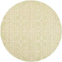 Safavieh Cambridge 6-Foot x 6-Foot Ava Wool Rug in Light Green/Ivory