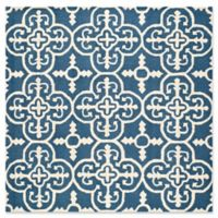Safavieh Cambridge 6-Foot x 6-Foot Ava Wool Rug in Navy /Ivory