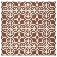 Safavieh Cambridge 6-Foot x 6-Foot Ava Wool Rug in Dark Brown/Ivory