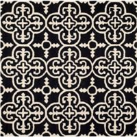 Safavieh Cambridge 6-Foot x 6-Foot Ava Wool Rug in Black/Ivory