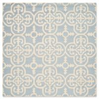 Safavieh Cambridge 6-Foot x 6-Foot Ava Wool Rug in Light Blue/Ivory
