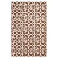 Safavieh Cambridge 6-Foot x 9-Foot Ava Wool Rug in Dark Brown/Ivory