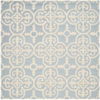 Safavieh Cambridge 8-Foot x 8-Foot Ava Wool Rug in Light Blue/Ivory