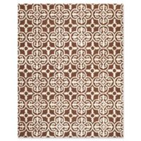 Safavieh Cambridge 8-Foot x 10-Foot Ava Wool Rug in Dark Brown/Ivory