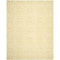 Safavieh Cambridge 9-Foot x 12-Foot Ava Wool Rug in Light Green/Ivory