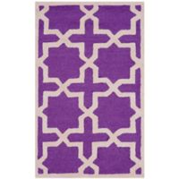 Safavieh Cambridge 2-Foot x 3-Foot Ana Wool Rug in Purple and Ivory