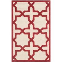 Safavieh Cambridge 2-Foot 6-Inch x 4-Foot Ana Wool Rug in Ivory and Rust