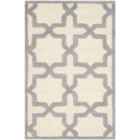 Safavieh Cambridge 2-Foot 6-Inch x 4-Foot Ana Wool Rug in Ivory and Silver