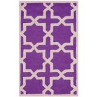 Safavieh Cambridge 2-Foot 6-Inch x 4-Foot Ana Wool Rug in Purple and Ivory