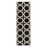Safavieh Cambridge 2-Foot 6-Inch x 12-Foot Ana Wool Rug in Black and Ivory