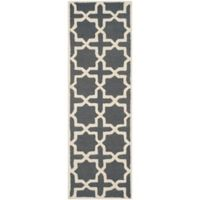 Safavieh Cambridge 2-Foot 6-Inch x 14-Foot Ana Wool Rug in Dark Grey and Ivory