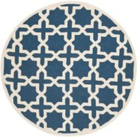 Safavieh Cambridge 4-Foot x 4-Foot Ana Wool Rug in Navy Blue and Ivory