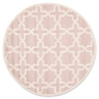 Safavieh Cambridge 4-Foot x 4-Foot Ana Wool Rug in Light Pink and Ivory