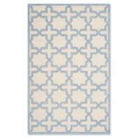 Safavieh Cambridge 4-Foot x 6-Foot Ana Wool Rug in Ivory and Light Blue