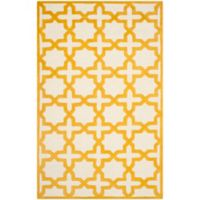 Safavieh Cambridge 4-Foot x 6-Foot Ana Wool Rug in Ivory and Gold