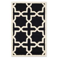 Safavieh Cambridge 4-Foot x 6-Foot Ana Wool Rug in Black/Ivory