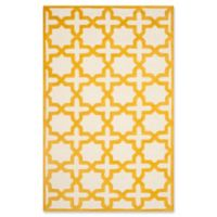 Safavieh Cambridge 5-Foot x 8-Foot Ana Wool Rug in Ivory and Gold