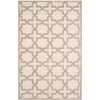 Safavieh Cambridge 5-Foot x 8-Foot Ana Wool Rug in Ivory and Beige