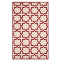 Safavieh Cambridge 5-Foot x 8-Foot Ana Wool Rug in Ivory and Rust