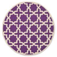 Safavieh Cambridge 6-Foot x 6-Foot Ana Wool Rug in Purple and Ivory