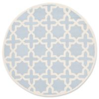 Safavieh Cambridge 6-Foot x 6-Foot Ana Wool Rug in Light Blue and Ivory