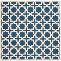 Safavieh Cambridge 6-Foot x 6-Foot Ana Wool Rug in Navy Blue and Ivory
