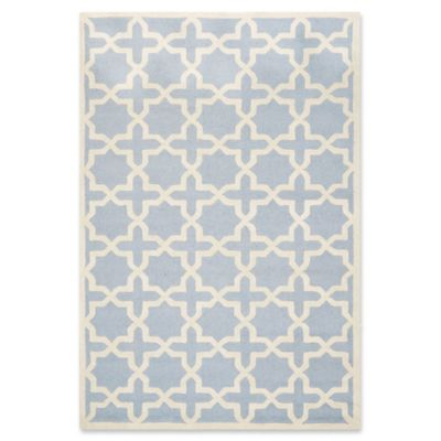 Safavieh Cambridge 6 Foot X 9 Foot Ana Wool Rug In Light Blue And