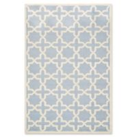Safavieh Cambridge 6-Foot x 9-Foot Ana Wool Rug in Light Blue and Ivory