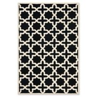 Safavieh Cambridge 6-Foot x 9-Foot Ana Wool Rug in Black and Ivory